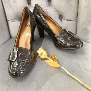 Sz 10M Sofft Brown Patent Leather Pumps Shoes 👠